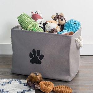 🎀 Dog Toy Storage Basket Gray Brand New 🎀